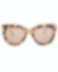 Bottega Veneta Core Avana Ruthenium Orange Women's Sunglasses BV0030S-30000287006