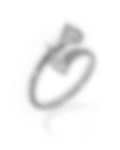 Bvlgari Diva's Dream 18k White Gold Diamond Ring Size 6.75. AN857491
