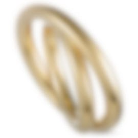 Image 1 of Calvin Klein Continue Yellow Gold PVD Stainless Steel Ring KJ0EJR1001-09