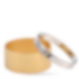 Image 1 of Calvin Klein Satisfaction Gold PVD Stainless Steel Bangle Bracelet KJ1DJD2801-0S