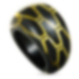 "Image 1 of Calvin Klein ""Abstract"" Yellow & Black PVD Stainless Steel Ring KJ2SBR5601-06"