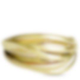 Image 1 of Calvin Klein Crisp Gold PVD Stainless Steel Bangle Bracelet KJ1RJD1001-XS