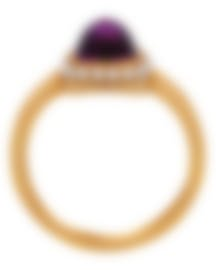 Image 2 of Fred Of Paris Gold Diamond 0.15ct Amethyst Pain De Sucre Ring 4B0684