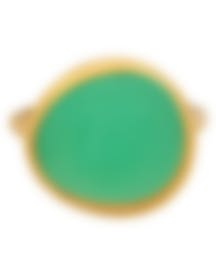 Image 1 of Fred Of Paris 18k Yellow Gold And Chrysoprase Belles Rives Ring 4B0810