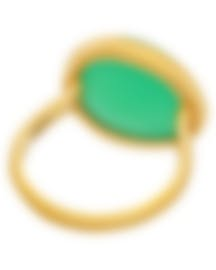 Image 2 of Fred Of Paris 18k Yellow Gold And Chrysoprase Belles Rives Ring 4B0810