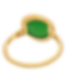 Image 2 of Fred Of Paris 18k Yellow Gold And Chrysoprase Belle Rives Ring Sz5.75 4B0922-051-1