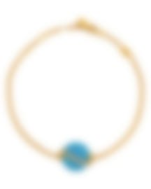 Image 1 of Fred Of Paris Gold Diamond 0.15ct Turquoise Baie Des Anges Bracelet 6B1004-000