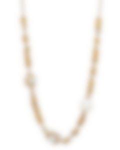 Fred Of Paris 18k Gold Diamond 1.88ct Pearl Baie De Anges Necklace 7J0258-000