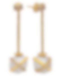 Image 2 of Fred Of Paris 18k Gold Diamond 0.42ct Pearl Baie De Anges Earrings 8B0129-000