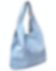 "Image 2 of HAYWARD ""Grand Shopper"" Sky Blue Suede Tote Bag - HLH-00297M81"