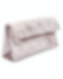 "Image 2 of HAYWARD ""East West Clutch"" Pale Pink Crushed Velvet Clutch - HLH-01042P81"