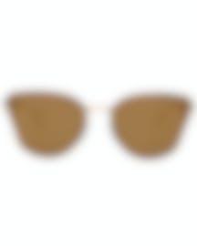 Image 1 of Michael Kors Gold Mirror Women's Acetate Metal Sunglasses MK2068-30094Z