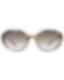 Image 1 of Miu Miu Tortoise Gray Women's Acetate Sunglasses MU01US-7S0QZ9