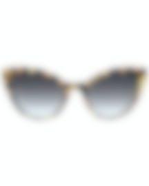Image 1 of Miu Miu Havana Gray Women's Acetate Sunglasses MU03US-7S05D1