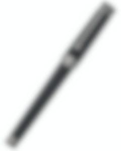 Montegrappa NeroUno Linea Black Resin|Ruthenium Plated Trim Fountain Pen Fine ISNLC2AC MSRP $640