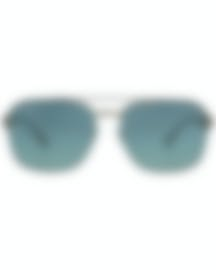 Image 1 of Ray-Ban Brown And Light Gray Gradient Unisex Metal Sunglasses RB3570-12111