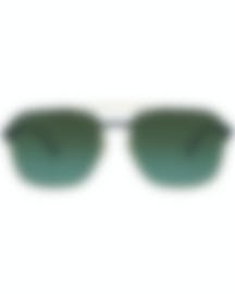 Image 1 of Ray-Ban Black And Brown Unisex Metal Sunglasses RB3570-9110E8