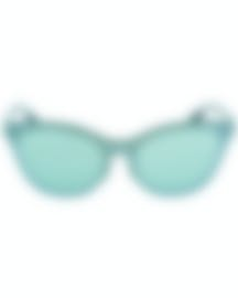 Image 1 of Ray-Ban Silver And Green Women's Metal Sunglasses RB3580N-04230