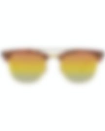 Image 1 of Ray-Ban Brown And Gold Unisex Acetate Sunglasses RB3816-1237I1