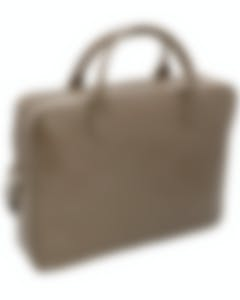 S.T. Dupont Line D Tan Calf Leather Briefcase And Document Holder 181703SS MSRP $1100