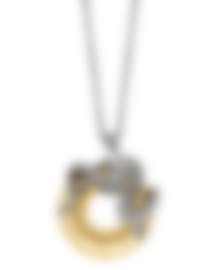 Image 1 of Swarovski Rhodium Plated Dragon Necklace 1141501