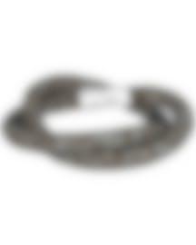 Image 1 of Swarovski Nylon And Rhodium Plated Crystal Bracelet 5136303