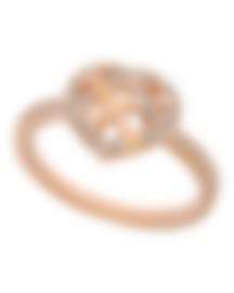 "Image 1 of Swarovski ""Greeting"" 18k Rose Gold-Plated Swarovski Crystal Ring Sz 7 5345512"