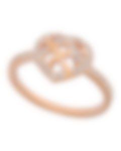 "Swarovski ""Greeting"" 18k Rose Gold-Plated Swarovski Crystal Ring Sz 7 5345512"