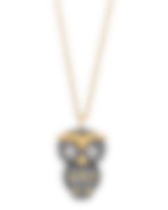 Swarovski Owl Gold-Plated Black Swarovski Crystal Necklace 5366714