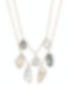 "Swarovski ""Prisma"" 23k Yellow Gold Plated Crystal Necklace 5385837"
