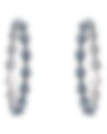 Image 1 of Swarovski Moselle Ruthenium Plated Black Swarovski Crystal Earrings 5455694