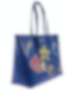 Versace Collection Blue Saffiano Logo Tote - LBF0492S-LSSPS-LM4OC