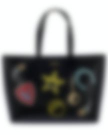 Image 1 of Versace Collection Black Saffiano Logo Tote - LBF0492S-LSSPS-LMNOC