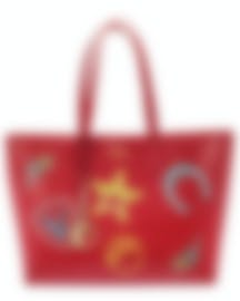 Image 1 of Versace Collection Red Saffiano Logo Tote - LBF0492S-LSSPS-LMROC