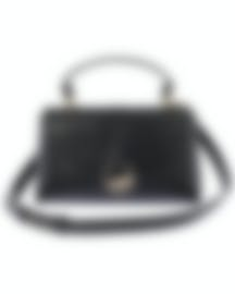 Image 1 of Versace Collection Black Saffiano Top Handle Satchel LBF0998S-LVSS-L41OC