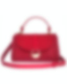 Image 1 of Versace Collection Red Top Handle Satchel LBF0998S-LVSS-L61OC