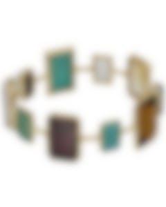 Ippolita Rock Candy 18k Gold Multi-colored Stones & MoP Bracelet GB629SAILOR