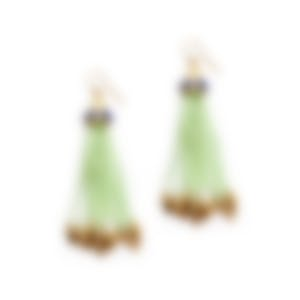 Lulu Frost Swift Nomadic Tassel Wire Earrings In Mint LFSS18-210