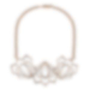 Lulu Frost Tesserae Crystl And Brass Bib Necklace LFSS18-51