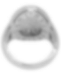 Bvlgari Bvlgari Curvo 18k White Gold Diamond Ring Size 6. AN854863
